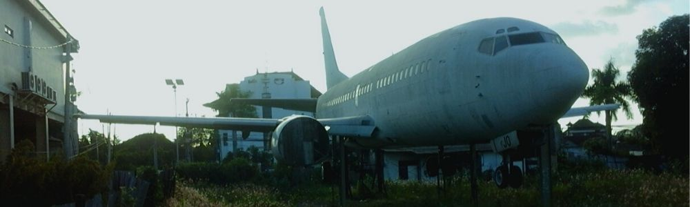 Tracking and finding two abandoned airplanes in Bali